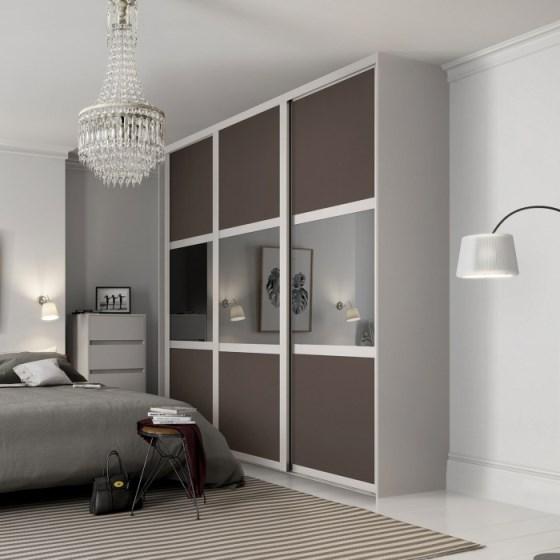 Black Glass Sliding Wardrobe Doors   Sliding Wardrobes UK